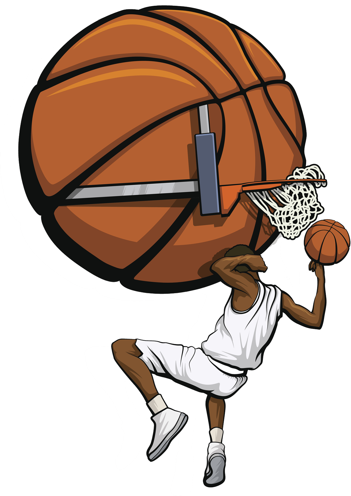 Basketball players dunking clipart graphic download Basketball Slam dunk Clip art - Basketball comics 1211*1710 ... graphic download