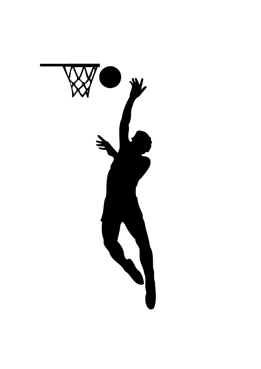 Basketball player dunking clipart vector freeuse Slam Dunk Silhouette at GetDrawings.com | Free for personal use Slam ... vector freeuse