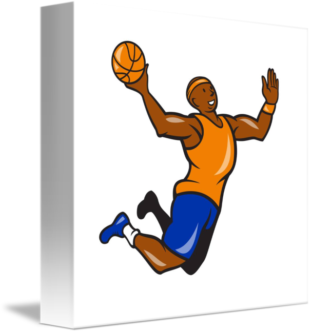 Basketball player dunking clipart svg free Basketball Player Dunking Ball Cartoon by Aloysius Patrimonio svg free