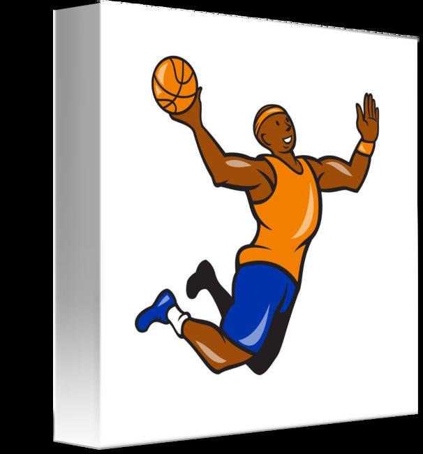 Basketball dunking clipart royalty free stock Basketball Player Dunking Ball Cartoon by Aloysius Patrimonio royalty free stock