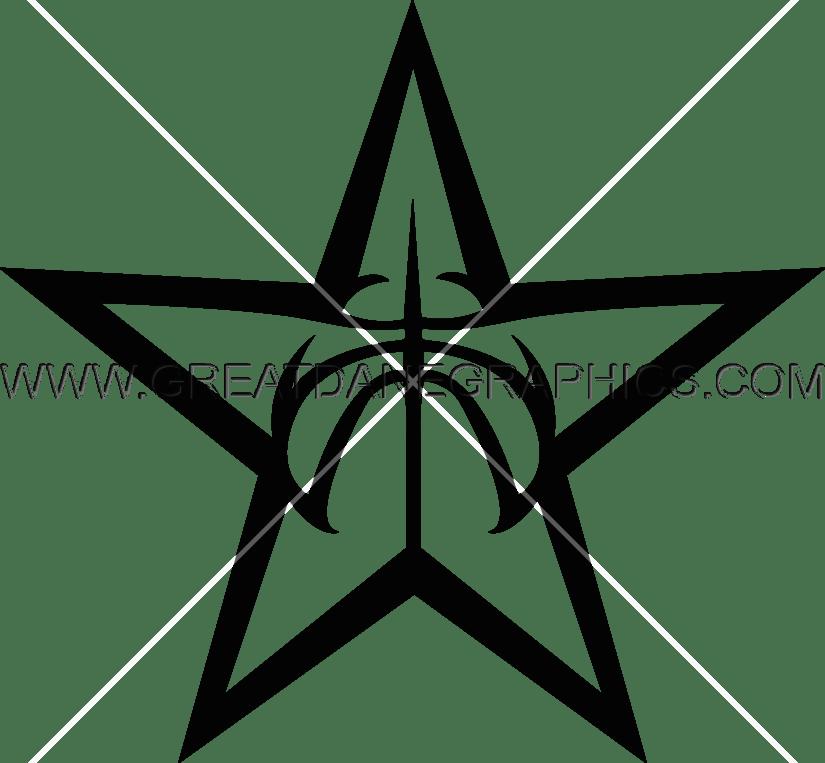 Basketball emblem clipart jpg royalty free stock Basketball Star   Production Ready Artwork for T-Shirt Printing jpg royalty free stock