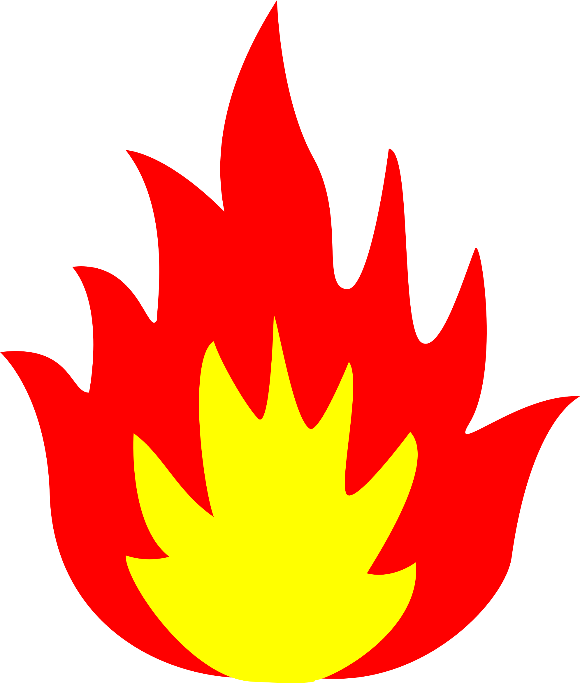 Tree on fire clipart image royalty free library Flames Clipart single - Free Clipart on Dumielauxepices.net image royalty free library