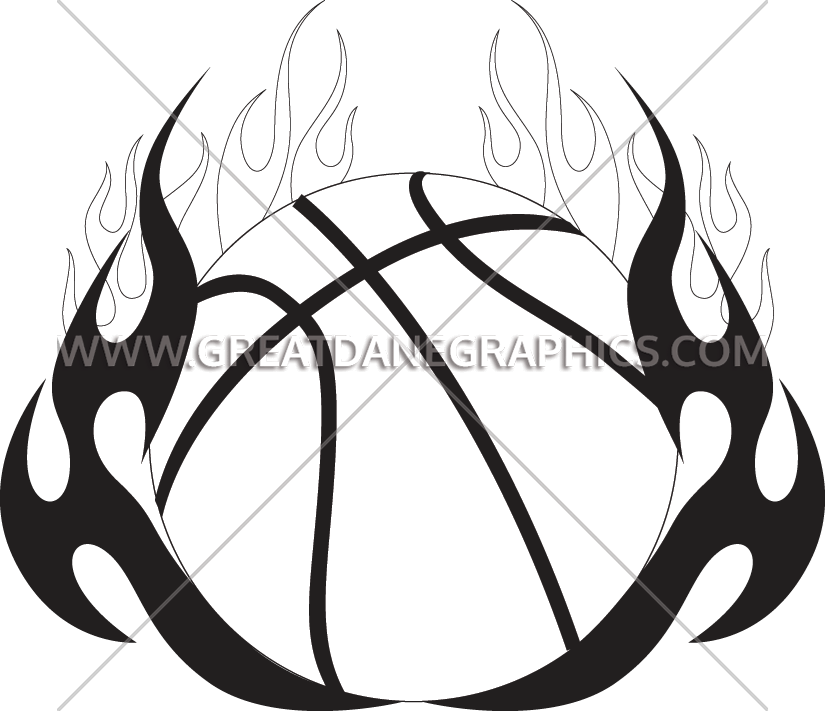 White basketball flames clipart vector royalty free library Basketball Tribal Flames | Production Ready Artwork for T-Shirt Printing vector royalty free library