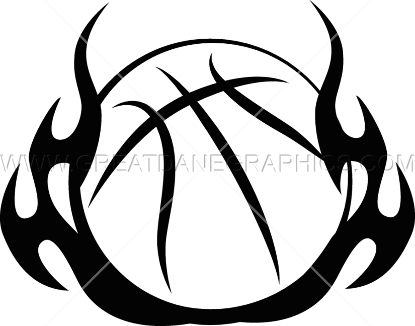 Free flaming basketball clipart clipart download Basketball Tribal Flames | Production Ready Artwork for T-Shirt Printing clipart download