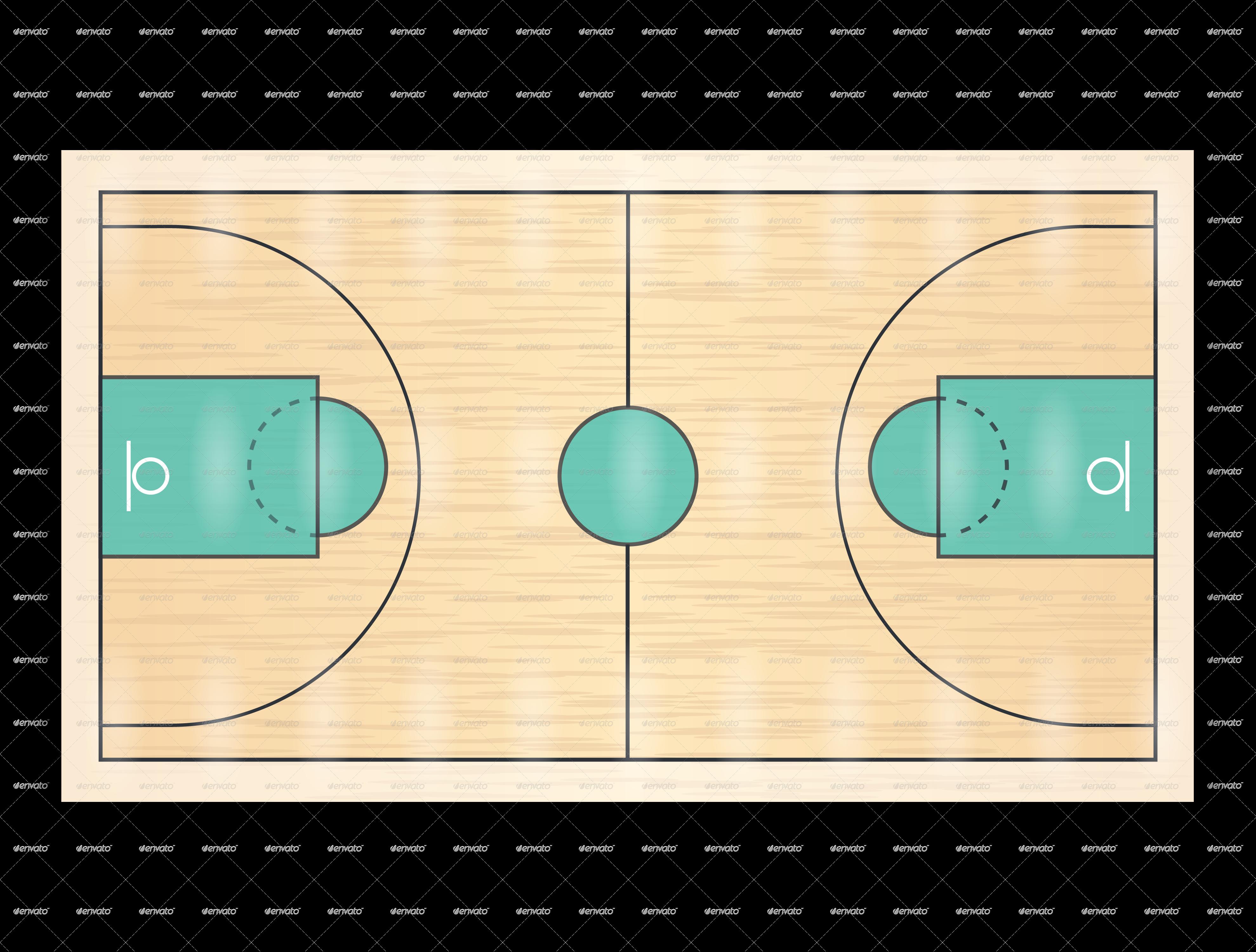 Basketball floor clipart clip Basketball Court by dsm-webdesigner | GraphicRiver clip