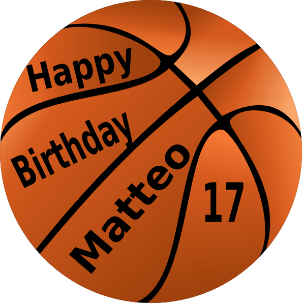 Basketball game clipart jpg royalty free Happy Birthday Basketball Clip Art at Clker.com - vector clip art ... jpg royalty free
