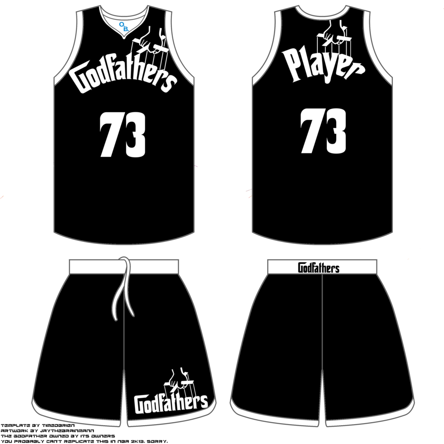 Basketball uniform clipart picture black and white download Godfathers basketball uniform by JayTheBrainMann on DeviantArt picture black and white download