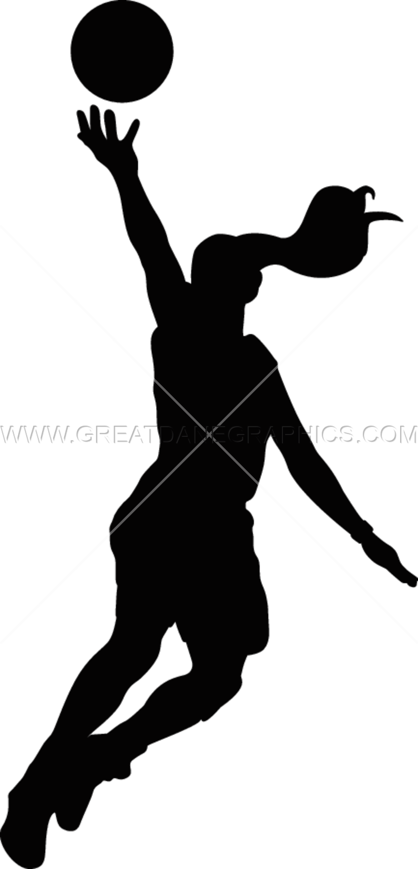 Free girls basketball clipart images clip art library Girls Basketball Layup | Production Ready Artwork for T-Shirt Printing clip art library