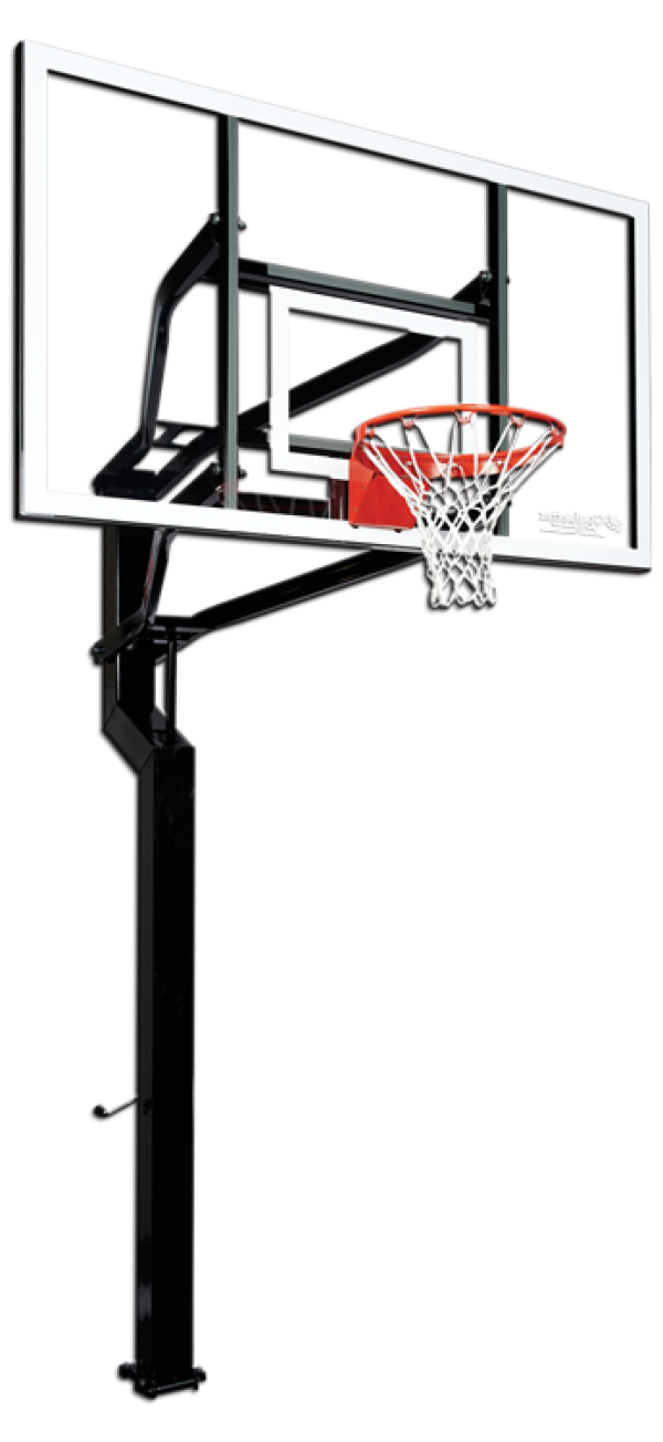 Basketball goal clipart from the side png black and white stock Basketball Goal Clipart Group (70+) black and white stock