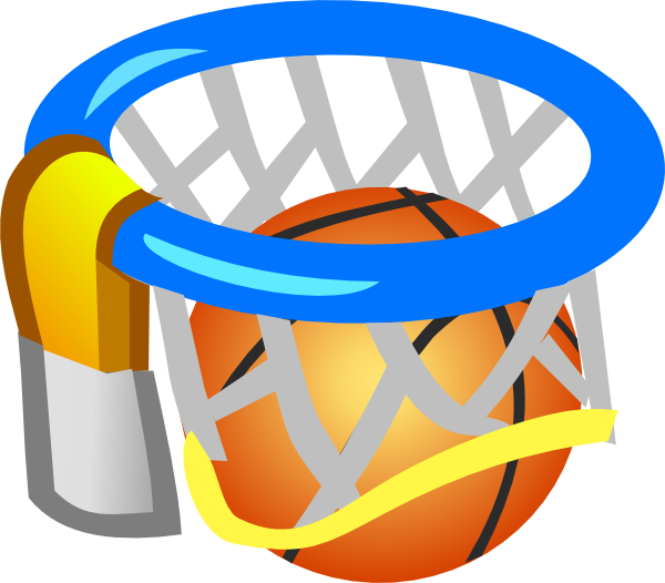 Basketball net clipart image free stock Basketball Net And Ball Clip Art at Clker.com - vector clip art ... image free stock