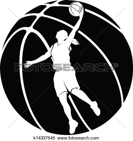Basketball graphics clipart clip art library Clipart of Girl Basketball Silhouette k14337545 - Search Clip Art ... clip art library