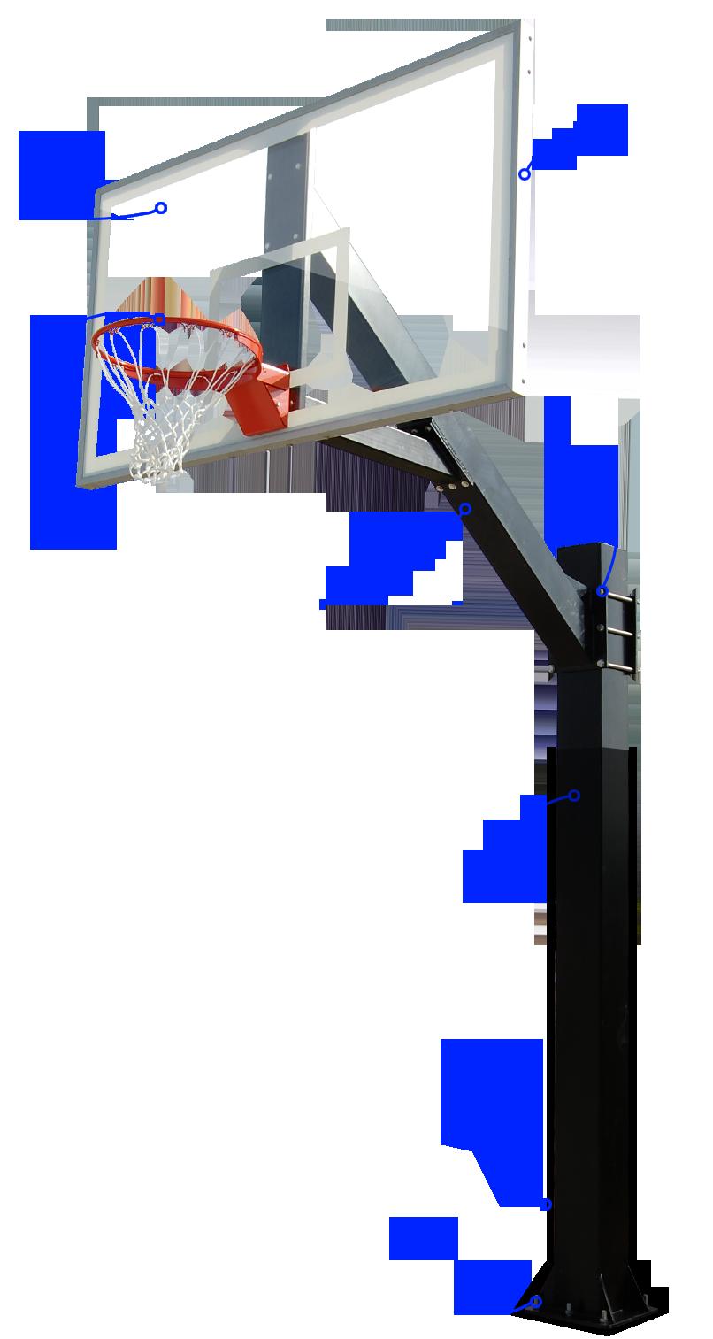 Indoor basketball court clipart vector black and white Hercules Basketball Goals vector black and white