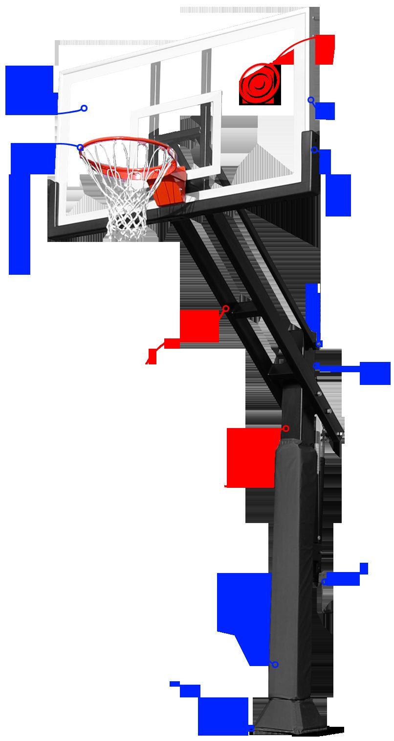 Rectangle backboard basketball hoop clipart image transparent library Pro Dunk Basketball Goals image transparent library
