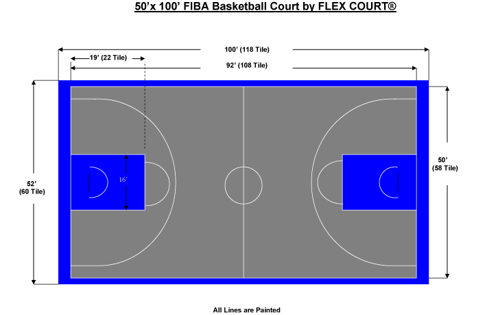 Basketball half clipart picture freeuse stock Download Half Court Size | Garden Design picture freeuse stock