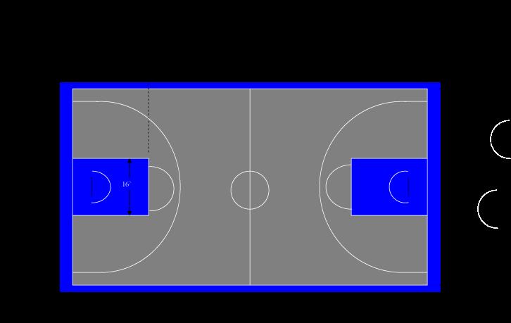Basketball half court clipart clip royalty free library Download Half Court Size | Garden Design clip royalty free library