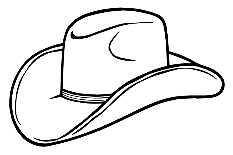 Thanksgiving hats coloring page clipart clip black and white stock Cowboy Hat Clipart PNG Image - Best PNG Images clip black and white stock