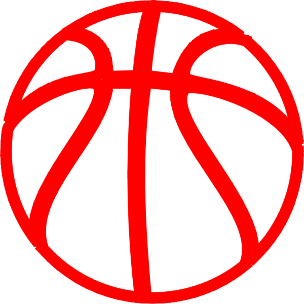 Red basketball clipart jpg black and white library Red Basketball Clip Art at Clker.com - vector clip art online ... jpg black and white library