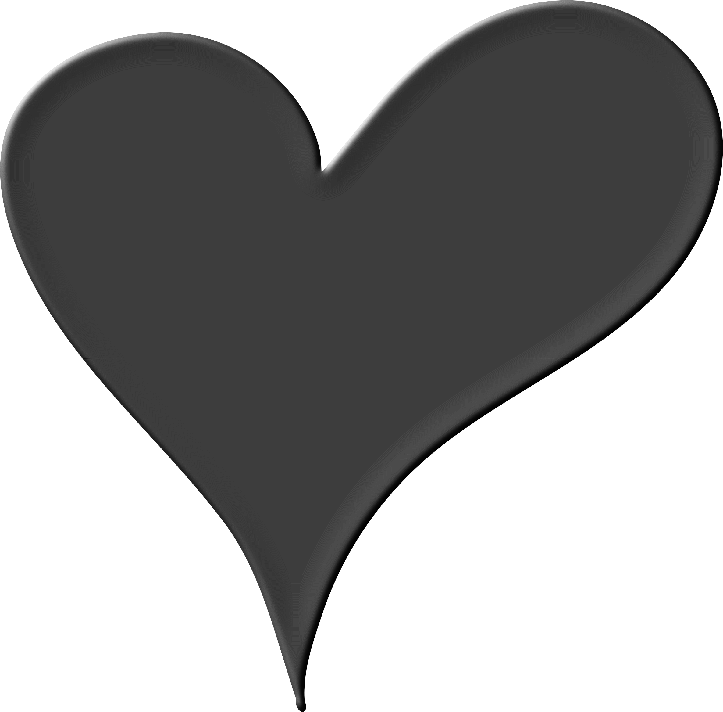 Black heart clipart png clip black and white download 28+ Collection of Black Clipart Heart | High quality, free cliparts ... clip black and white download