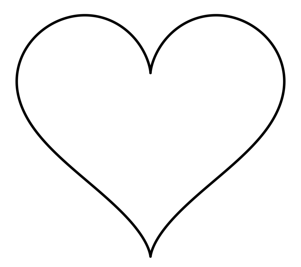 Basketball heart clipart black and white svg free stock Heart line art clipart svg free stock
