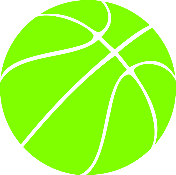 Green basketball clipart vector black and white download Black Basketball Clip Art at Clker.com - vector clip art online ... vector black and white download