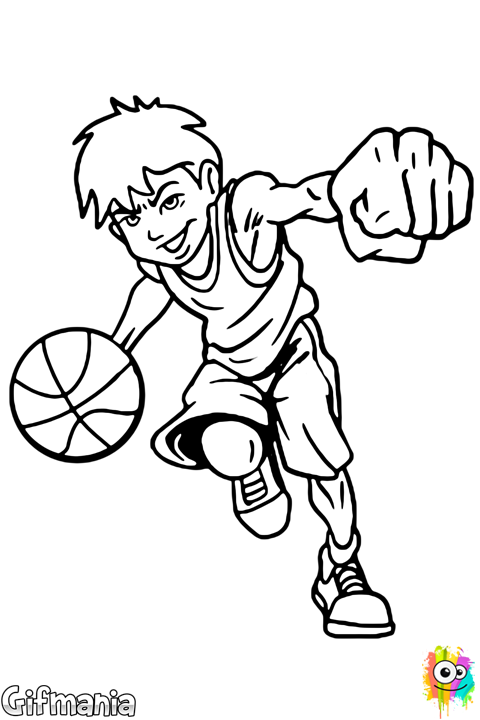 Kids with basketball laughing clipart black and white svg royalty free stock playing basketball #basketball #sport #coloringpage #drawing ... svg royalty free stock