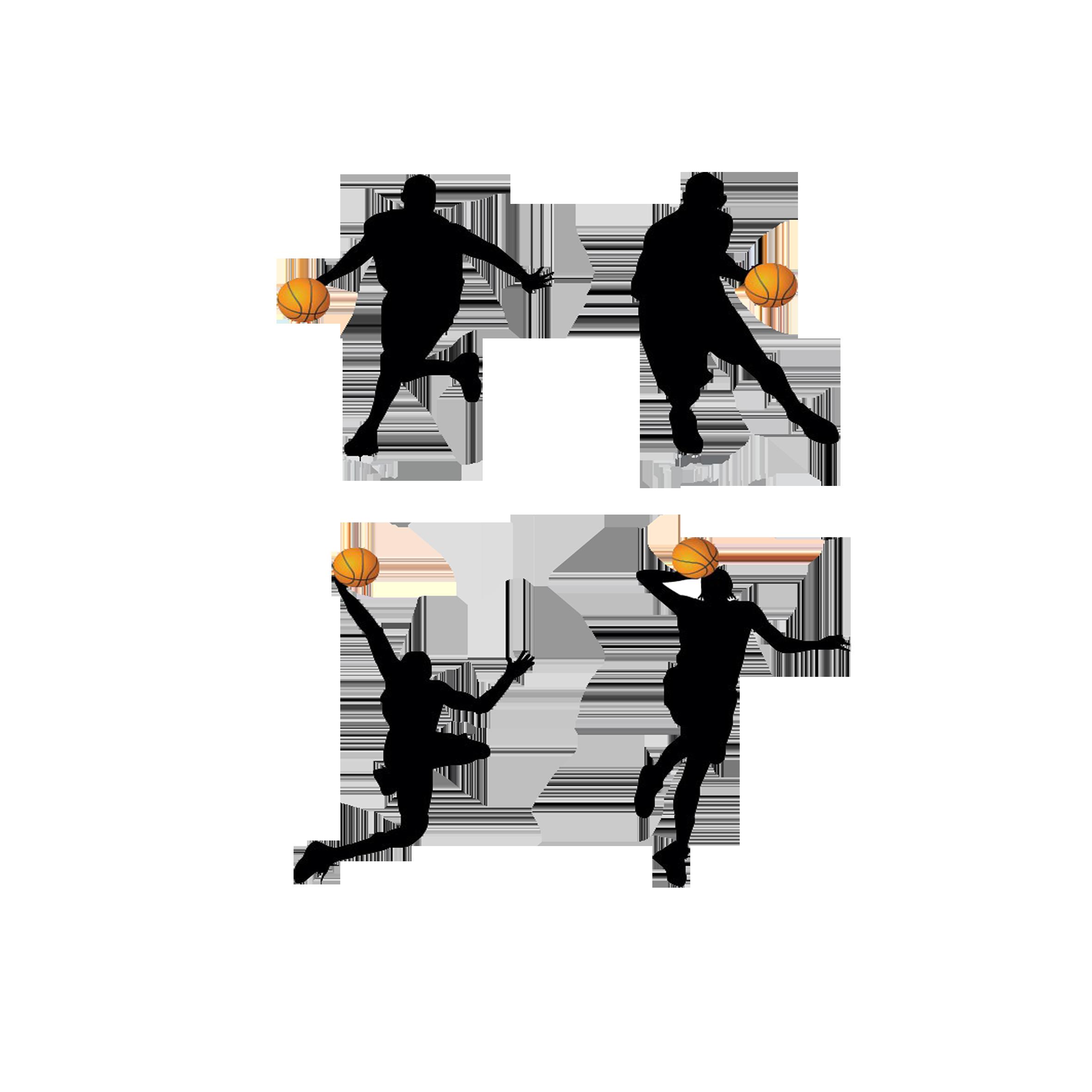 Basketball jumpball clipart vector transparent download Basketball player Backboard Clip art - Classic basketball action ... vector transparent download