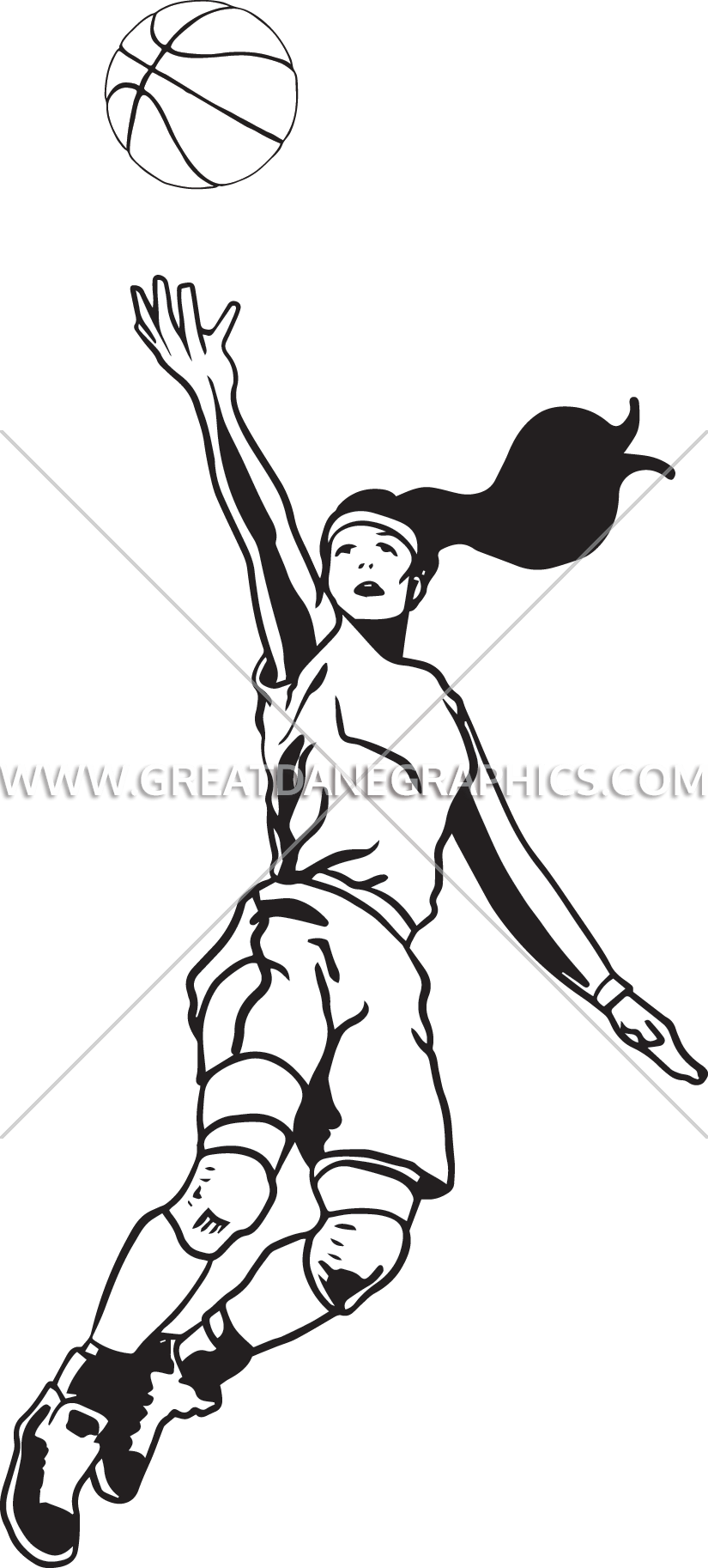 Black white clipart basketball girl clip freeuse library 28+ Collection of Basketball Layup Drawing | High quality, free ... clip freeuse library