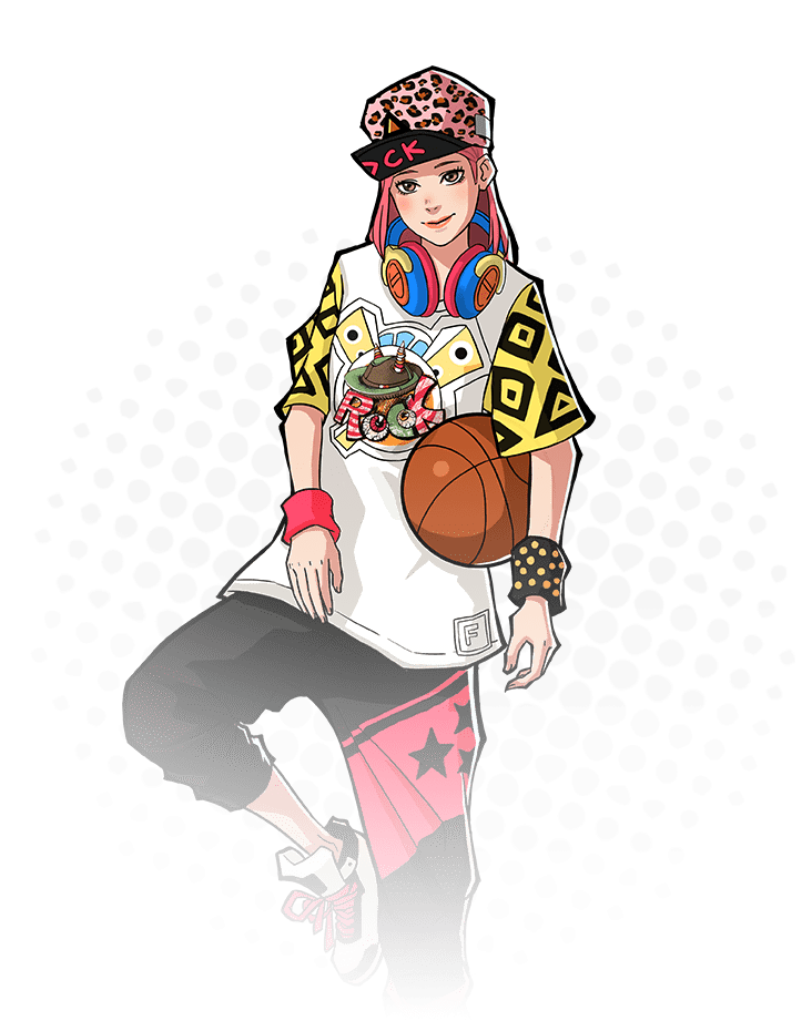 Basketball player doing a layup clipart clipart stock Basketball Hero: Free 3on3 sports MOBA clipart stock