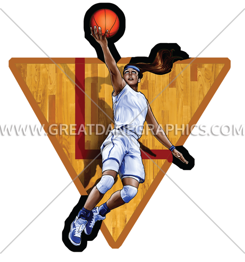 Girls basketball lay up clipart clip art library stock Girls Basketball Layup | Production Ready Artwork for T-Shirt Printing clip art library stock