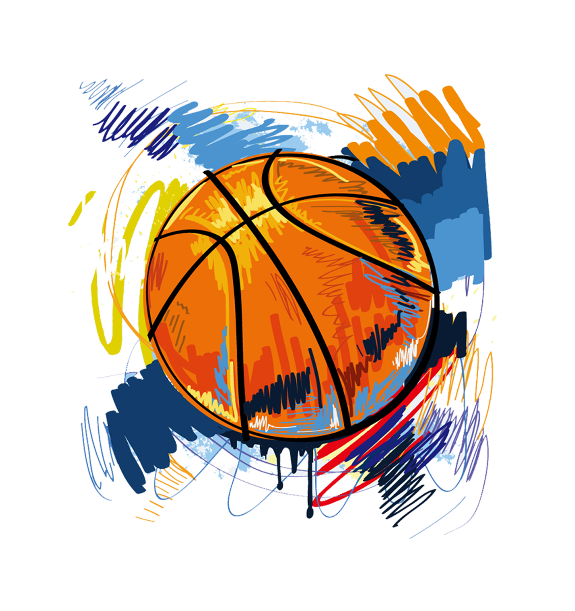 Basketball lines on ball clipart clipart T-shirt Basketball Graffiti Illustration - basketball 1129*1200 ... clipart