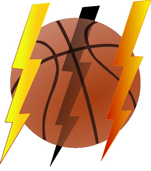 Women basketball clipart image library library Lightning Bolt Basketball Clip Art at Clker.com - vector clip art ... image library library
