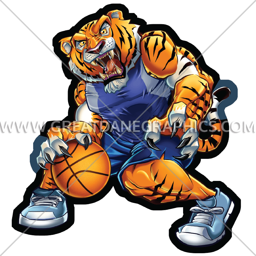 Free basketball clipart tiger clipart freeuse Basketball Tiger | Production Ready Artwork for T-Shirt Printing clipart freeuse