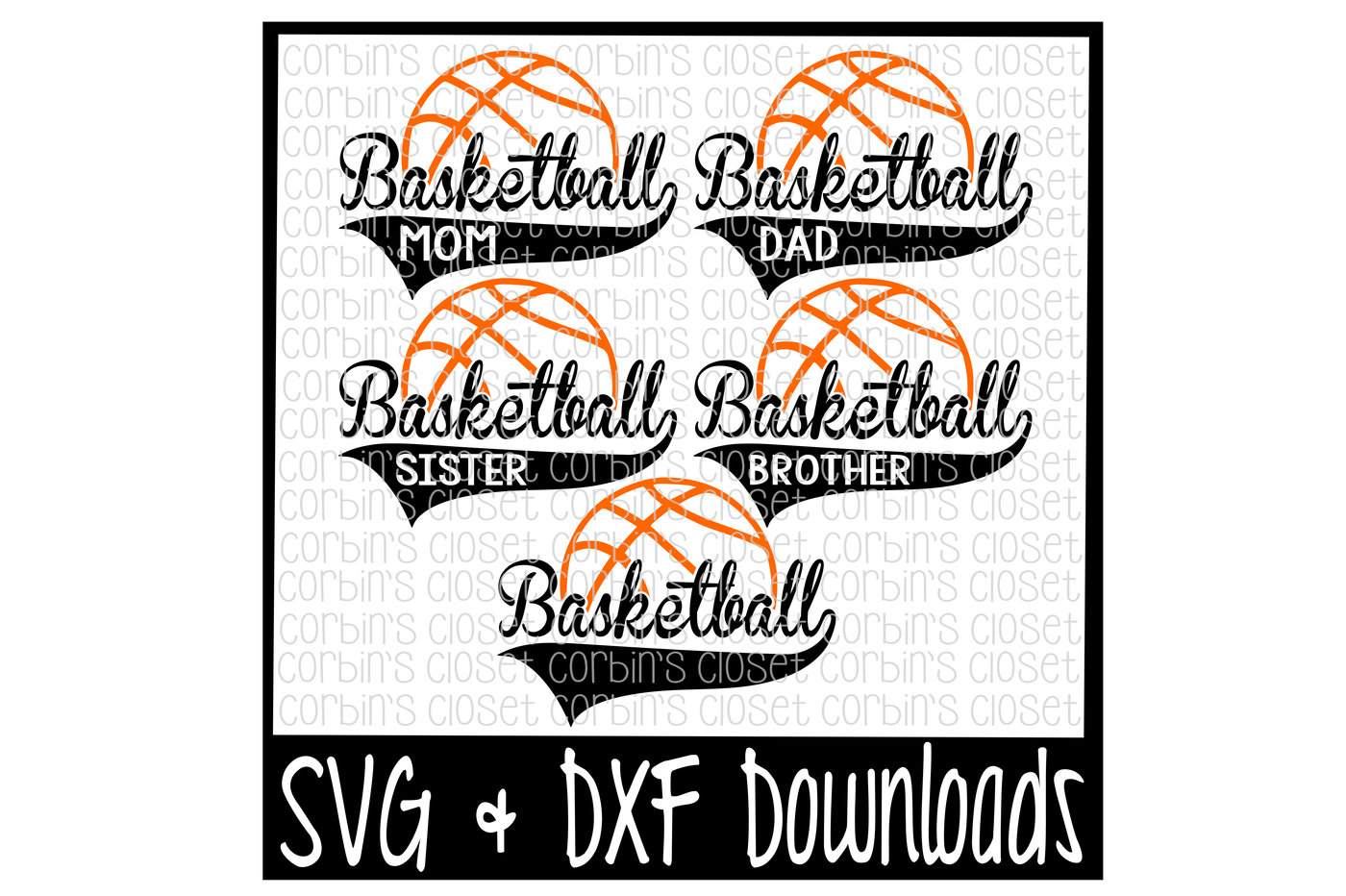 Clipart basketball dad vector library library Basketball Mom * Dad * Sister * Brother Cutting File by Corbins SVG ... vector library library