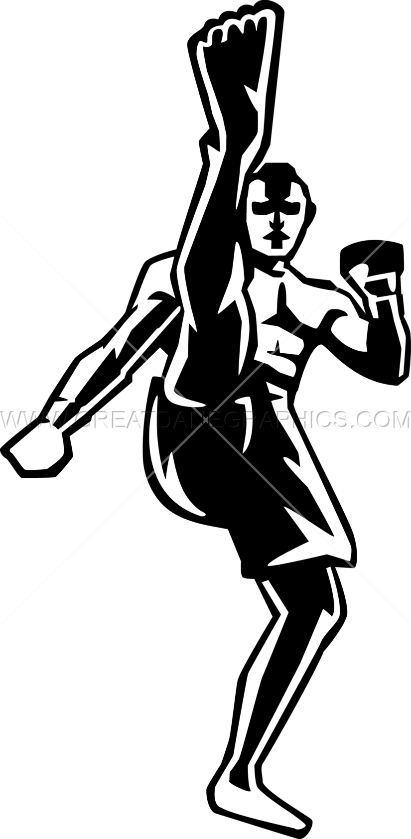 Basketball moves clipart vector library Fighter Kick   Production Ready Artwork for T-Shirt Printing vector library
