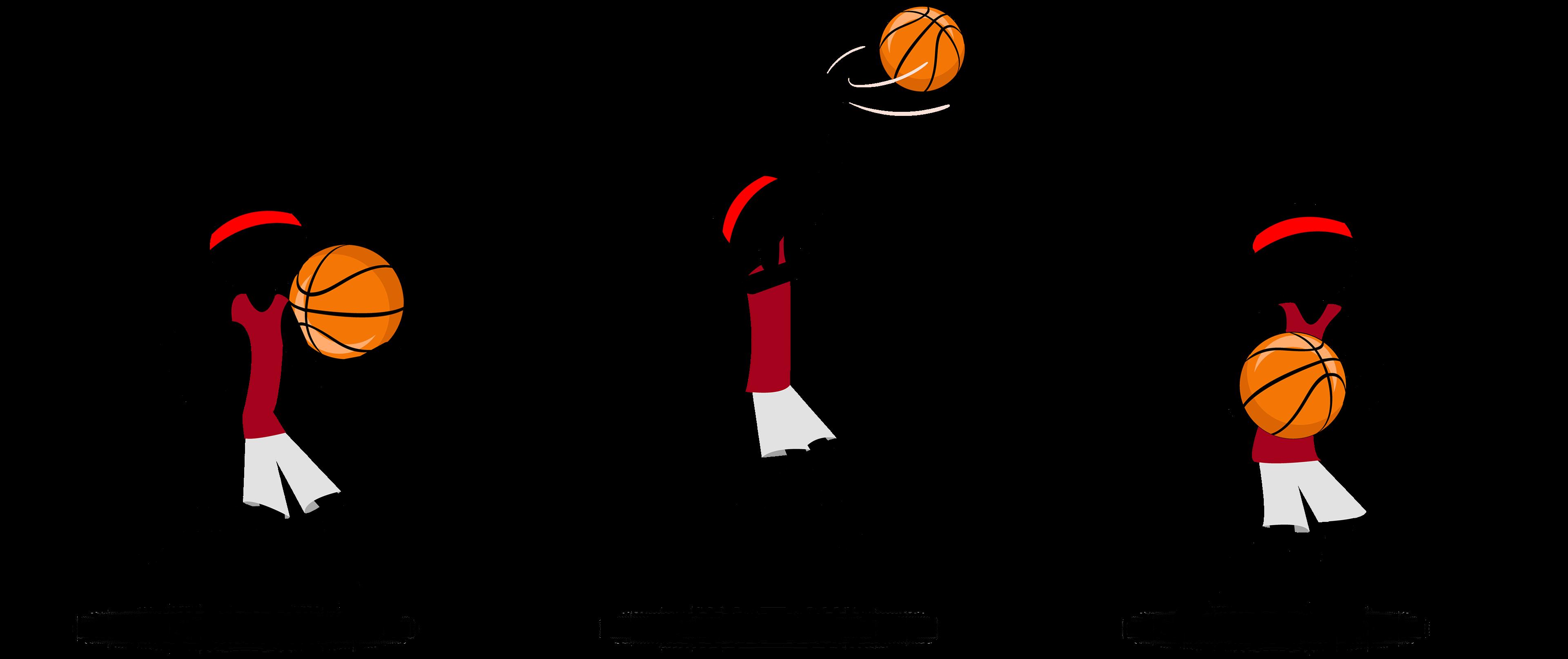 Basketball player doing a layup clipart jpg transparent library Stickman-Slam-Dunk on Behance jpg transparent library