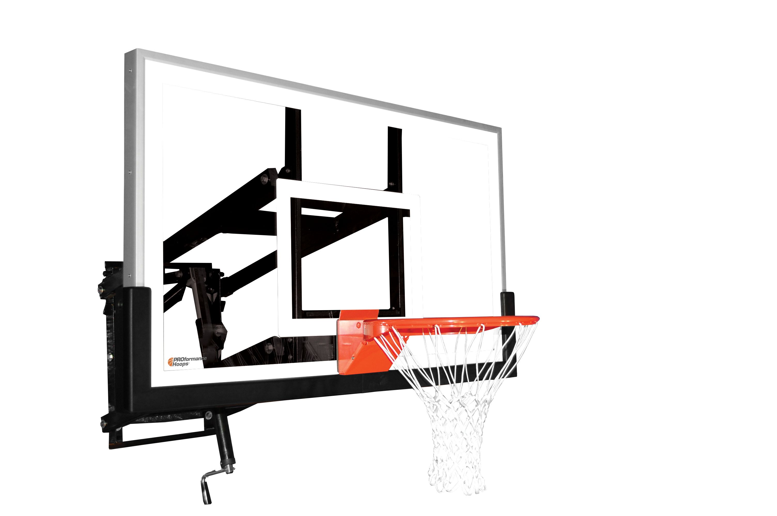 Basketball net backboard clipart graphic transparent library PROformance Hoops Wall Mount Basketball Goal - 38