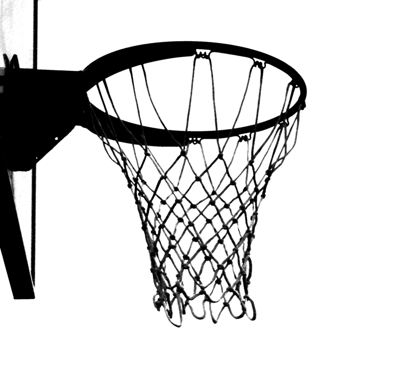 Ripped basketball net clipart