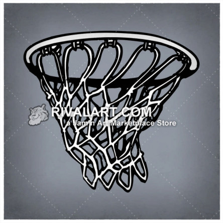 Basketball net image ripped clipart clip library stock Basketball Clipart on Rivalart.com clip library stock