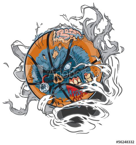 Basketball net image ripped clipart picture library Zombie Basketball Ripping of Background Vector Clip Art - Buy this ... picture library
