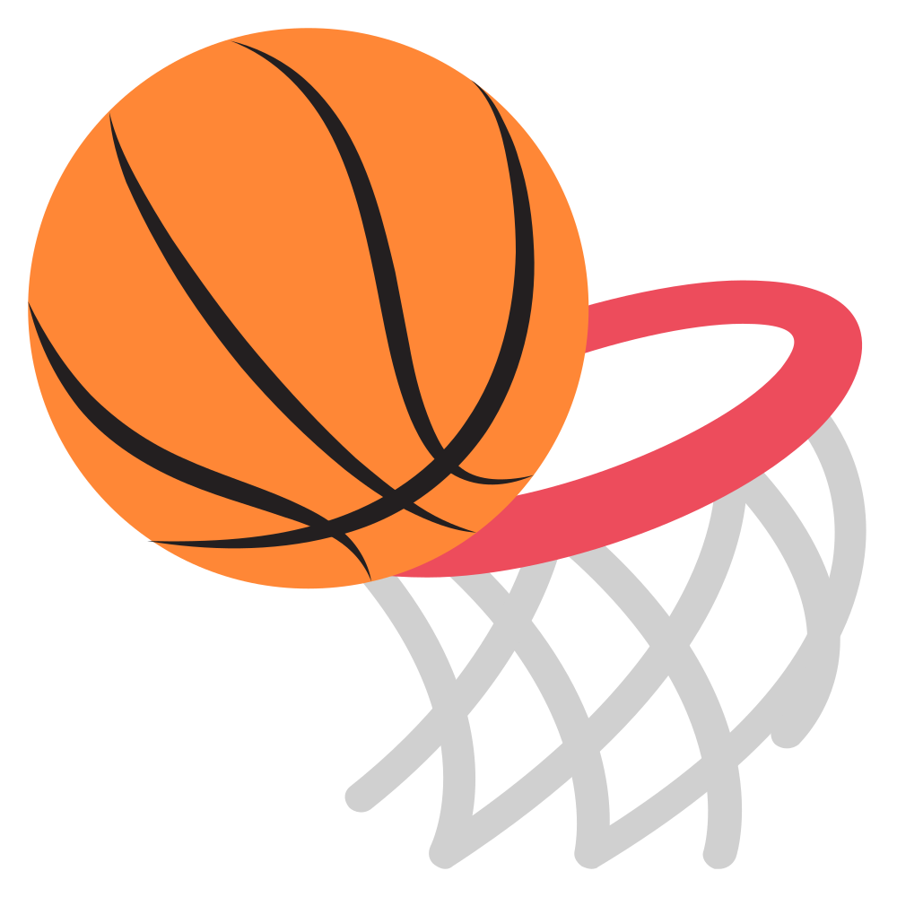 Basketball net vector clipart jpg freeuse library File:Emojione 1F3C0.svg - Wikimedia Commons jpg freeuse library