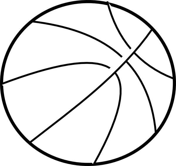 Basketball outline clipart black and white image royalty free stock Sv Basketball Clip Art at Clker.com - vector clip art online ... image royalty free stock