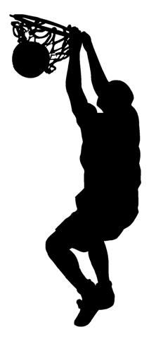 Basketball photoshop real clipart graphic free library silhouette basketball dunk - Google Search | Silhouettes ... graphic free library