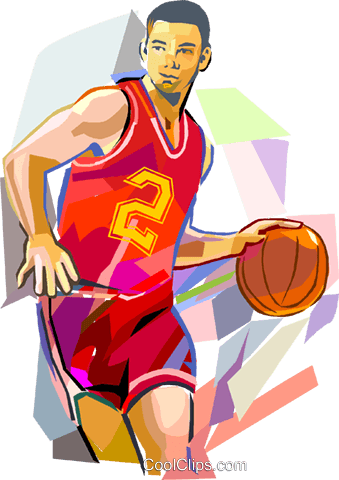 Basketball photoshop real clipart banner freeuse Basketball player dribbling ball Royalty Free Vector Clip Art ... banner freeuse