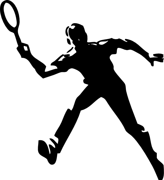 Clipart basketball players svg freeuse Tennis Player Clip Art at Clker.com - vector clip art online ... svg freeuse