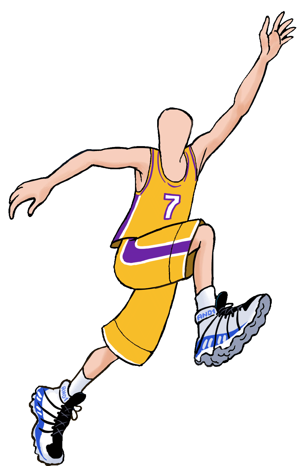 Basketball player block clipart black and white download Order a caricature from photo online by Wish2Be #1 artists black and white download