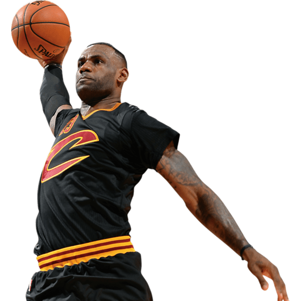 Basketball player block clipart png transparent download Lebron James Silhouette at GetDrawings.com | Free for personal use ... png transparent download