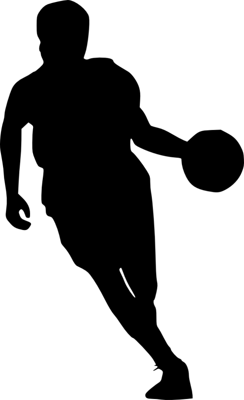 Basketball players clipart free clip royalty free stock basketball player silhouette png - Free PNG Images | TOPpng clip royalty free stock