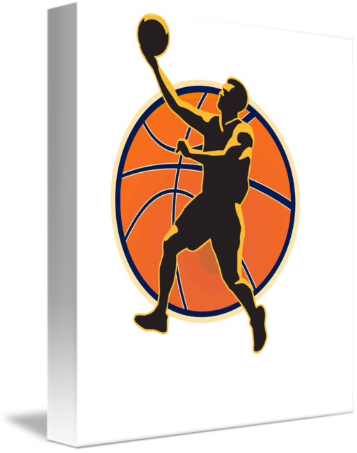 Basketball player doing a layup clipart picture royalty free download Basketball Player Lay Up Ball by Aloysius Patrimonio picture royalty free download