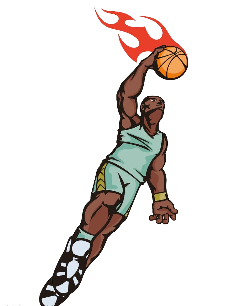 Basketball player dunking clipart banner free stock Basketball Sport Slam dunk Illustration - Basketball player dunk 769 ... banner free stock