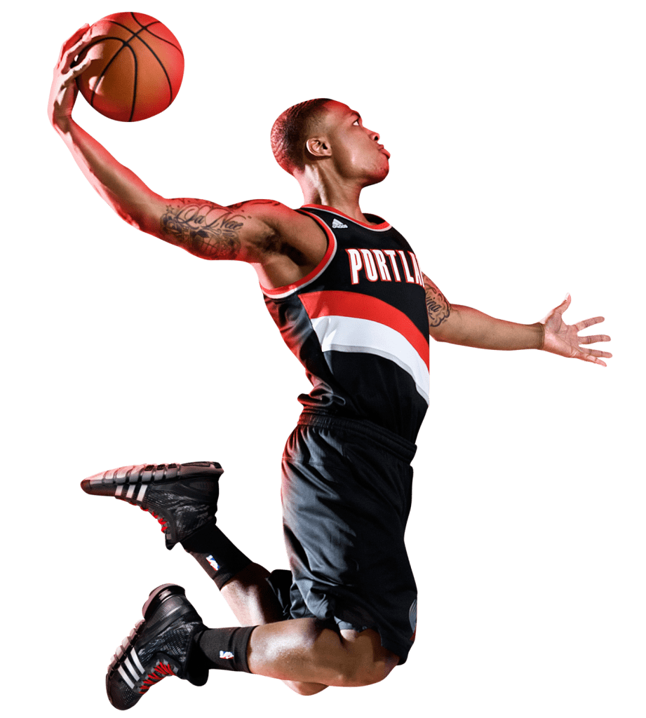 Basketball player dunking clipart clip library download Damian Lillard Dunk transparent PNG - StickPNG clip library download